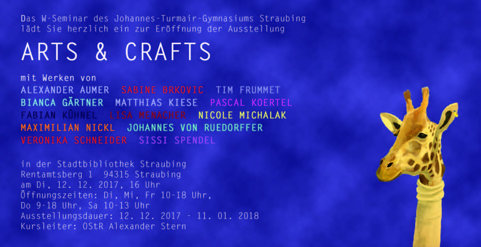 einladung arts crafts web